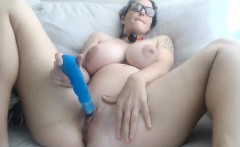 Cute chubby pregnant wife gets crempied