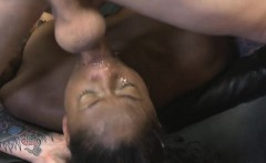 Pretty Black Kennedy Monroe Taking A Mean Face Fucking