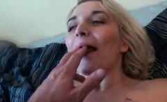 Orgasm craving blonde fucked hard in POV