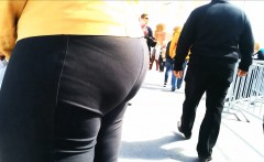 really large butt milf in tights that are dark