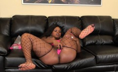 Voluptuous black girl Jayden Star finds a place to fulfill her needs
