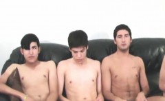 Four horny twinks suck each others hard cocks for a cash