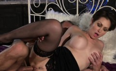 Busty mature in lingerie banging