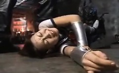Japanese schoolgirl is tied up and tortured by her sadistic