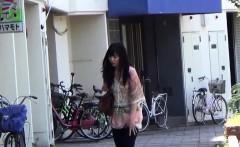 Oriental slut piss street