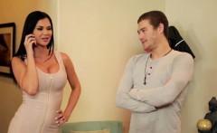 Teens enjoy sharing big cock hot threesome