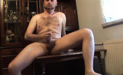 Hairy dude Brutal Hospital loves fapping more than anything
