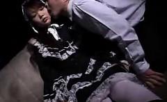 Delightful Japanese schoolgirl enjoys a hard penetration fr