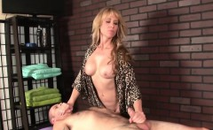 Milf masseuse edging subs hard cock