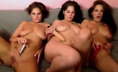 Triplets lesbians over their cam