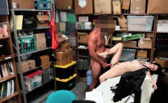 Teen shoplifter spunked