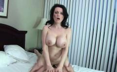 Big titted MILF gets cum on her ass