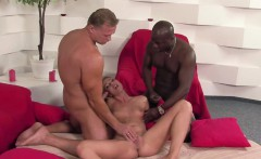 Young Teen Double Fuck by Black and With Cock