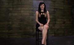 Gorgeous brunette escort girl amateur basement bondage