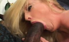 Busty blonde cougar blowjob riding dong interracial