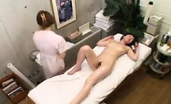 Cute Asian babe with a divine ass gets sexually pleased by