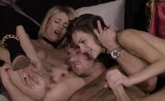 Hot pornstar threesome with cum swap
