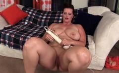 Big ass and big boobed girl using magic wand