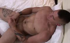 Hot ass military dude Ripley wanking his fat cock
