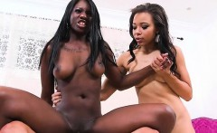 Ebony Babes Share Big Cock And Jizz Of Their Driver