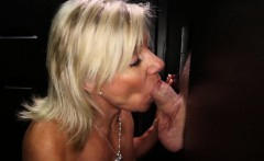 Hot Old Granny sucks tons of cock in Gloryhole