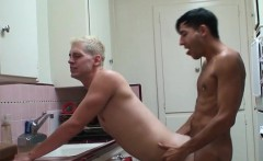 Sexy twink gives his latino lover nice cock sucking session
