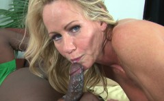Smoking hot MILF Simone gets a hard interracial fuck