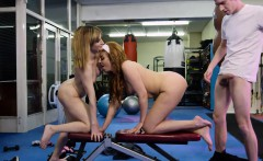 Two hot moms in spandex taught dude how to fuck in tandem