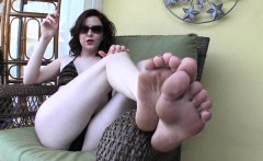 Goddess Emma Poolside Foot Bath! t