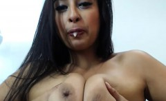 Big Boobs Camgirl Performing Her Live Cam Show