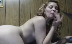 Blonde Babe Masturbates and Eats her Own Cum