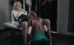 Redhead pornstar dildo and cumshot