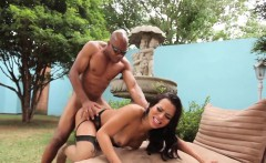 Sexy tranny takes big black cock
