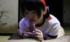 Sloppy Facial For Japanese Schoolgirl
