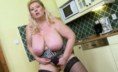 OldNannY Busty Mature Masturbation In The Kitchen