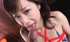 Japanese AV Model plays nasty along her new partner