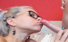 Nerdy Blonde Babe Suck and Fuck by her Boyfriend