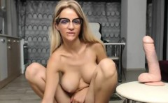Excited Big-Titted Blonde Plays With Her Pussyon Cam