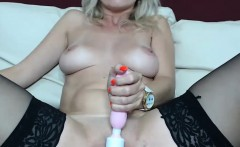 Yummy Shaved Milf Uses Her New Sex Toy
