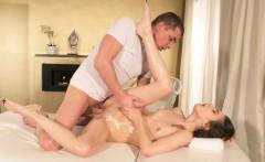 Massage Rooms Ukrainian takes a big cock facial