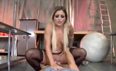 Slutty blonde chick gets fucked really hard by her BF