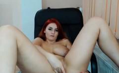Tania big boobs redhead babe undresses at home