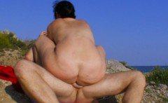 curvy brunette amateur fingered and fucked outdoors