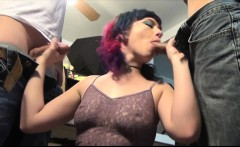Dirty bitch in piss fetish gangbang