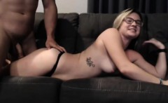 Amateur wife gives great deepthroat on cam