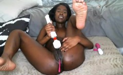 Black Ebony Riding Ebony Handjob