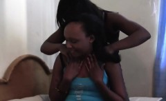 Watch this aggressive and chubby African lesbian breaking