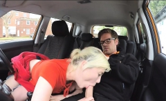 Blonde babe Misha MayFair pounded by driving instructor
