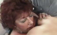 Mature lesbian does young girl