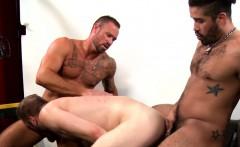 Trey Turner ass bangs Peter Marcus and Michael Roman